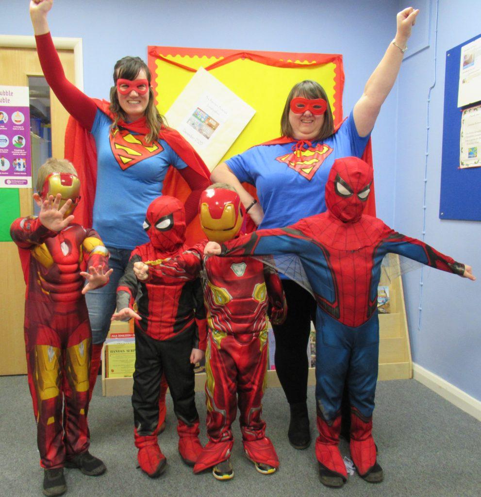 red nose day super heros